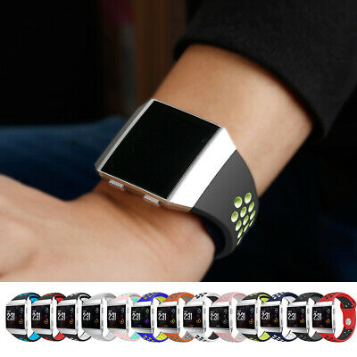 Men Women's Soft Silicone Rubber Wrist Band Strap Large/Small For Fitbit Ionic