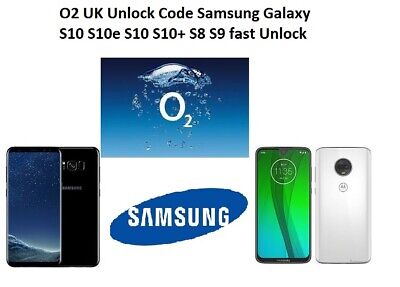 Only O2 UK Unlock Code Samsung Galaxy S7 edge S8 S9 S10e S10+ A80 only O2 UK