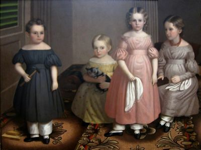 """high quality oil painting handpainted on canvas """"The Alling Children""""@N14862"""