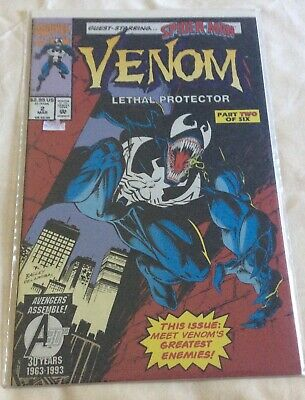 Venom: Lethal Protector #2 (Marvel 1993) Red Foil Cover~2nd Story VF/NM