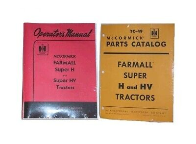 FARMALL Super H & HV OWNERS PARTS CATALOG 2 Manual Set