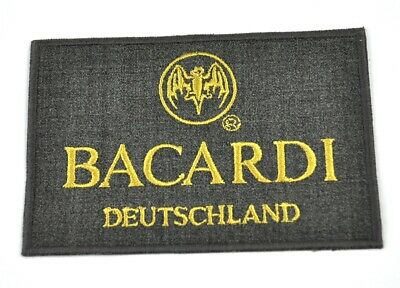 """Bacardi Rum USA Bat Hanger Patch Badge Sticker Embroidered Fabric 3.25/"""" x 2.5/"""""""
