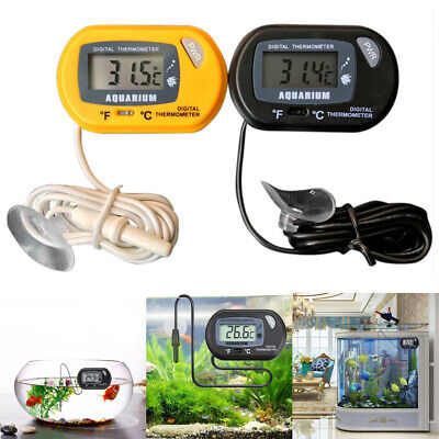 Digital LCD Thermometer Aquarium Fish Tank Water Temperature Meter Yellow Black