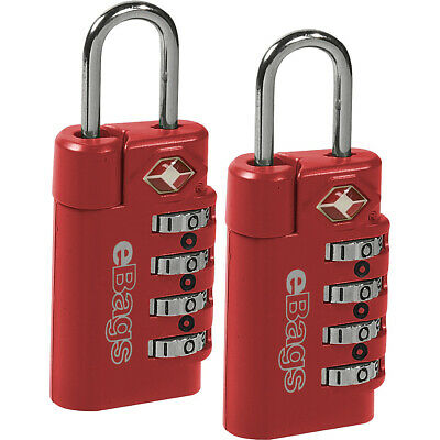 eBags TSA Accepted Lock 4-Dial Combo (2pk) 2 Colors Luggage Accessorie NEW