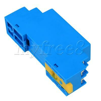 Plastic Housing RTD PT100 DIN Rail Type Temperature Sensor Transmitter Blue