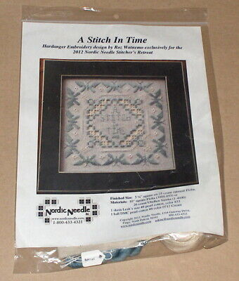 """Nordic Needle Retreat / Roz Watnemo """"A Stitch in Time"""" Hardanger Embroidery Kit"""