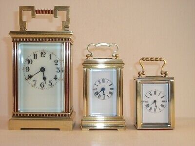 Genuine french antique sub-miniature carriage clock Complete overhaul July 2019.
