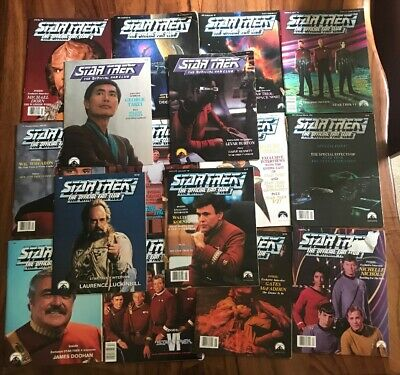 Lot of 16 Star Trek The Official Fan Club Magazines - All Good Shape - 1990s