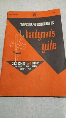 Vintage Wolverine Handyman's Guide First edition
