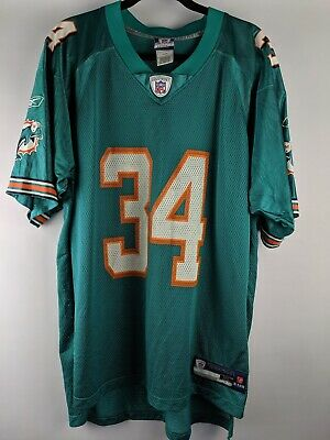 7f15f768 REEBOK AUTHENTIC NFL Miami Dolphins Ronnie Brown 23 Green Jersey ...