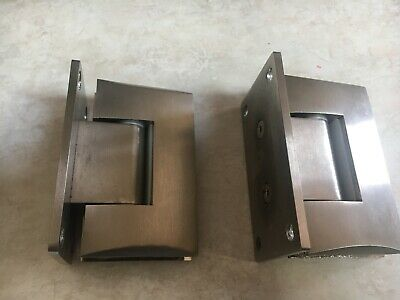 A Set Of Wall To Glass Shower Door  Hinges, Large Base