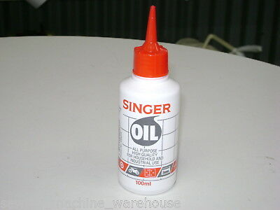 Singer Sewing Machine Oil, 100ml bottle, All Purpose, Industrial, Domestic.