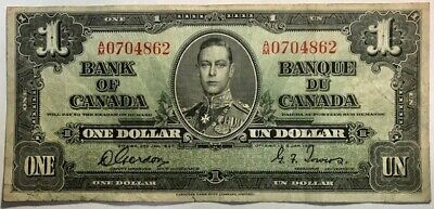 Bank of CANADA - George VI - One Dollar - 1937 - Gordon/Towers - Very Fine