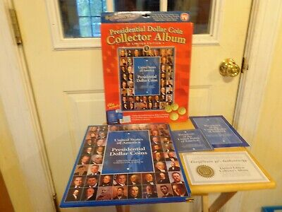 Limited Edition Presidential Dollar Coin Collector Album President Book Cd-Rom