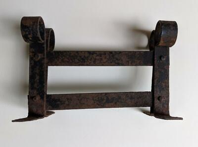 ANTIQUE 19th CENTURY HAND FORGED WROUGHT IRON BOOT SCRAPER, ARCHITECTURE