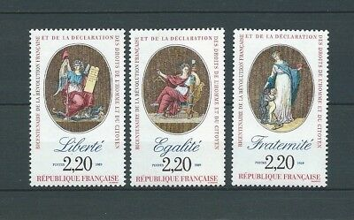 FRANCE - 1989 YT 2573 à 2575 - TIMBRES NEUFS** MNH LUXE