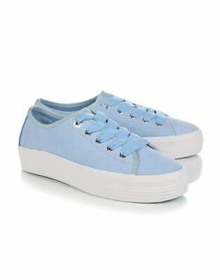 Tommy Hilfiger Nubuck Flatform Womens Footwear Shoes - Omphalodes All Sizes