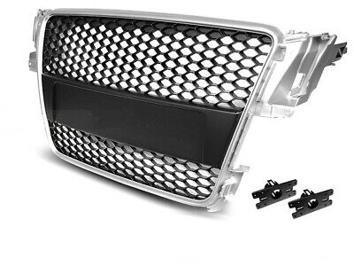 Kühlergrill Frontgrill Wabengrill Audi A3 RS Look 06//05-03//08 Chrom//Schwarz