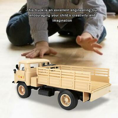 Alloy Military Truck Diecast 1:20 Scale Metal Model Camouflage Music Light Toy