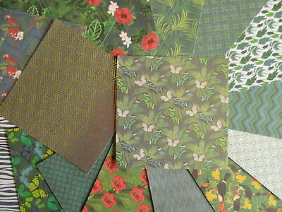 """Botanical Beauty 6x6"""" Scrapbook Backing Papers 16 sheets - tropical rainforest"""