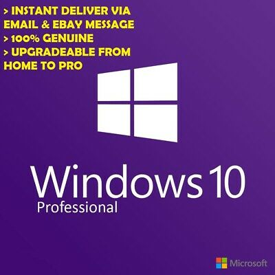 MS Microsoft Windows 10 Professional Win 10 PRO 32/64 Bit Vollversion Deutsch