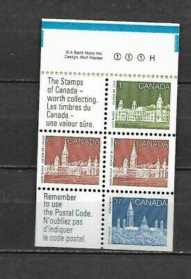 pk45539:Stamps-Canada #1187a Parliament Booklet Pane - MNH