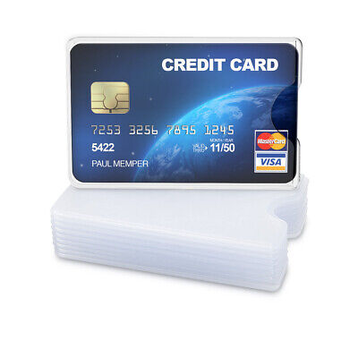 10x Transparent Credit Card Sleeve - Protector for ID, Business, SSN Cards