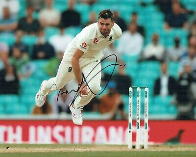 Jimmy ANDERSON 2019 Signed Autograph 10x8 Photo 3 AFTAL COA England Cricket