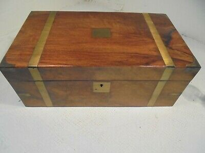 Antique Walnut Writing Slope Box