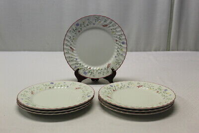 """Johnson Brothers """"Summer Chintz"""" Lot Of 7 Pink Floral 10.5"""" Dinner Plates"""