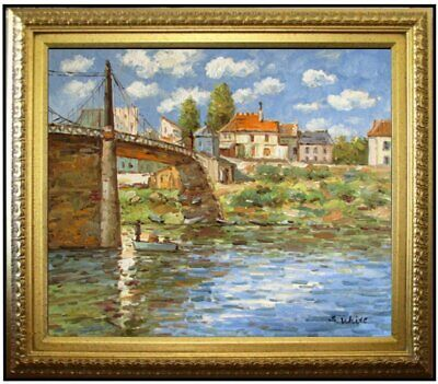 Framed Alfred Sisley Landscapes Repro, Quality Hand Painted Oil Painting 20x24in