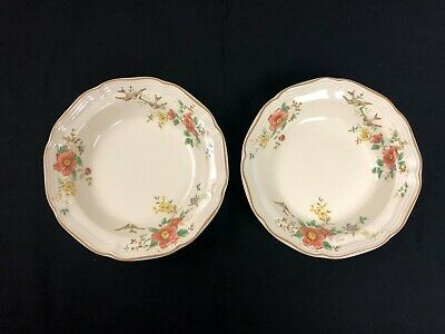 "Lot of 2 - Mikasa Heritage CAPISTRANO F2010 8.5"" Soup Cereal Rimmed Bowl (3)"
