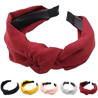 Women's Headband Alice Band Top Twist Knot Fashion Plain Headband Twist Hairband