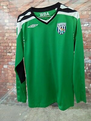 West Bromwich Albion Fc '1' Umbro Long Sleeve Green Goalkeepers Shirt M? Vgc