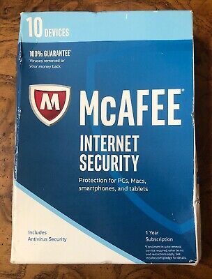MCAFEE TOTAL PROTECTION 2017 - 10 Devices 1 Year - $9 95