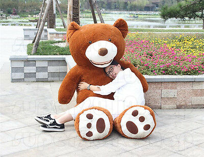 63'' Giant Big USA Teddy Bear Plush Soft Toys Doll Brown Stuffed Animals Gifts