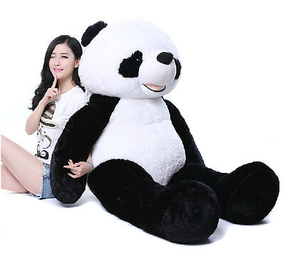 72'' Giant Hung Panda Teddy Bear Stuffed Animal Plush Doll Toy Xmas Gift Fashion