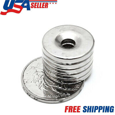 N35 Lot Countersunk Ring Round Disc Strong Magnets Rare Earth Neodymium Hole Hot