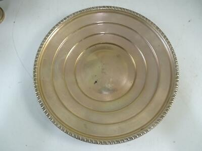 """Antique Sterling Silver 8.5"""" Wide Dish Plate 103.2 grams Layered Vintage Old"""