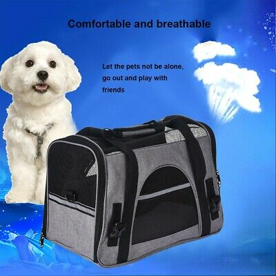 Pet Carrier Soft Sided Puppy Kitten Cat Dog Tote Bag Travel Airline Approved US
