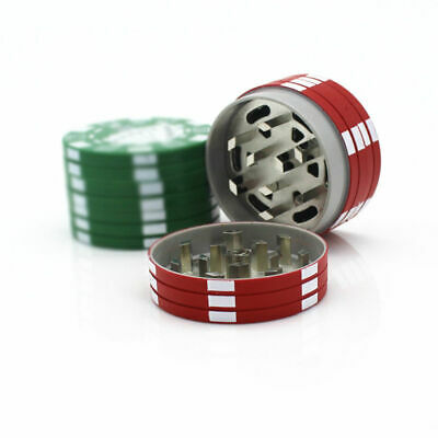 3-Layer Herb Spice Grinder Alloy Tobacco Smoke Crusher 40mm Casino-Chip Design