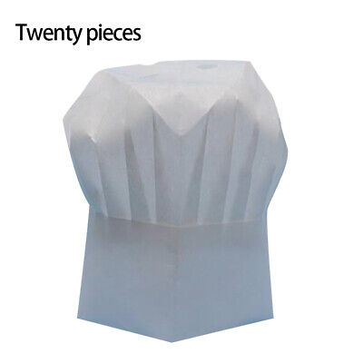 20 pcs / Pack High Quality Non-woven Fabric White Disposable Cook Cap Chef Hat