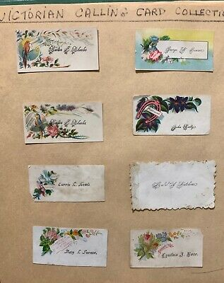 victoria calling cards collection of 157 cards