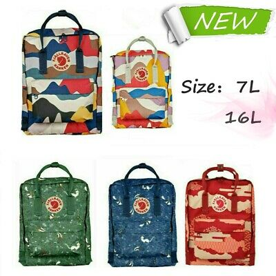 Waterproof Fjallraven KanKen Backpacks Fashion Printed Casual Travel Sports Bags