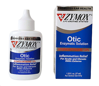 Zymox Otic Pet Ear Treatment with Hydrocortisone, 1.25 oz Free Shipping(2-Pack)