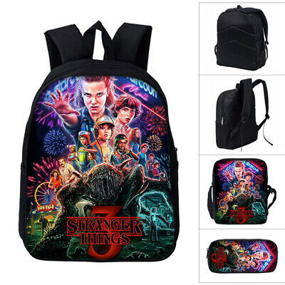 Stranger Things Backpack Student Schoolbag Pencil Case Lunch Bag New 1/3PCS