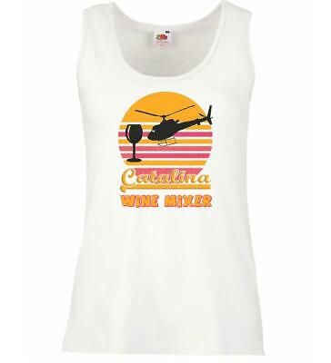 Ladies White Catalina Wine Mixer Vest Step Brothers Stepbrothers Ferrell Comedy