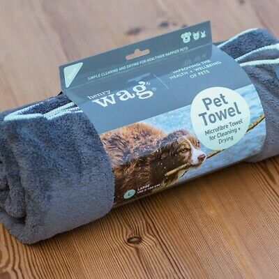 Henry Wag Microfibre Towel, Towel For Dogs, Microfibre Towel, Two Sizes