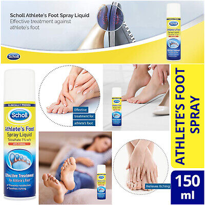 Scholl Athletes Foot Spray Liquid 150ml Soothes Itching Effective Fungal Spray