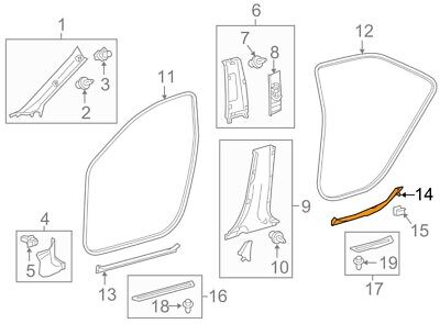 TOYOTA Genuine 67913-0E060-C0 Door Scuff Plate